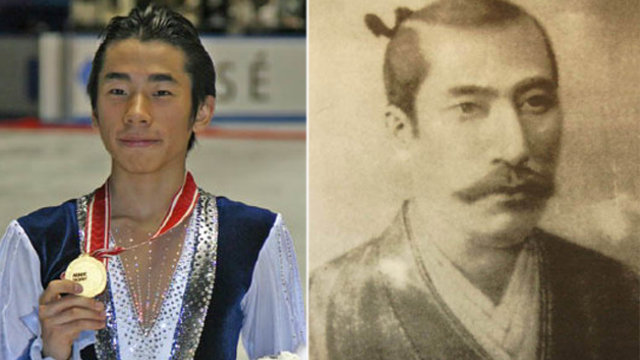 Der Eiskunstläufer und sein berühmter Vorfahre