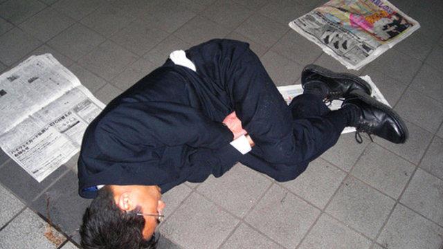 Japan trinkt und schweigt