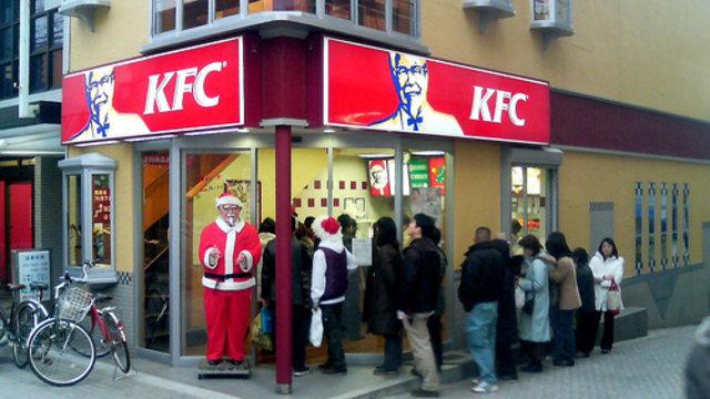 Weihnachten im Fastfood-Restaurant
