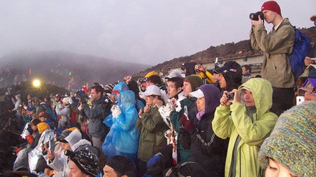 Ein Berg voller Menschen