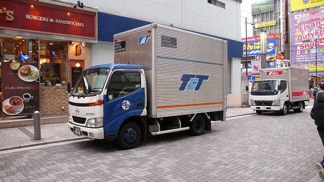 Ein Lastwagen ohne Fahrer