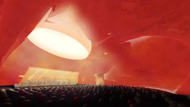 Die aufblasbare Konzerthalle