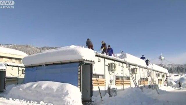 Nothäuser versinken im Schnee