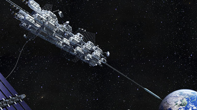 Ein Lift in den Weltraum
