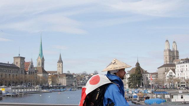 Für Japan zu Fuss durch Zürich