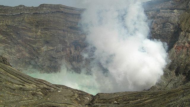 Strom aus dem Vulkan
