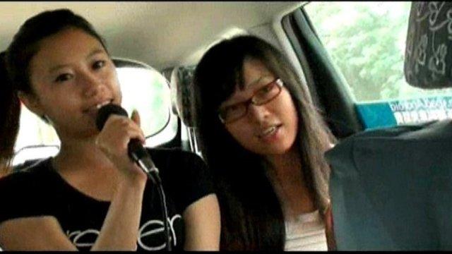Karaoke im Taxi