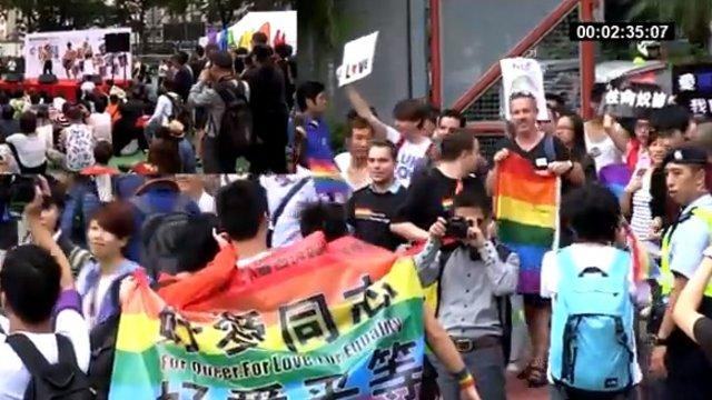 Hongkongs Schwule holen auf