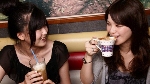 Eine Insel der Kaffeetrinker