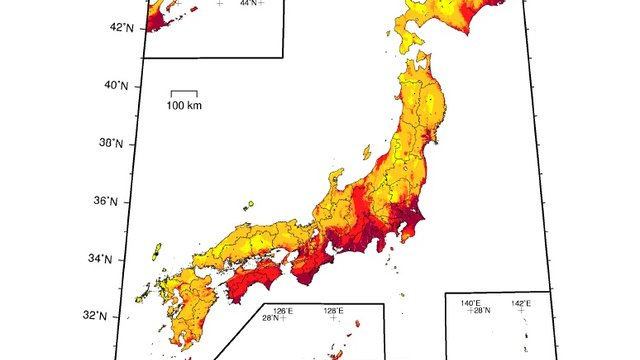 Die Erdbebenkarte