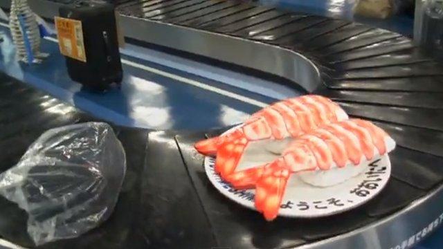 Sushi für die Gepäckausgabe
