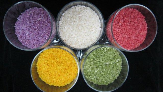 Reis in allen Farben