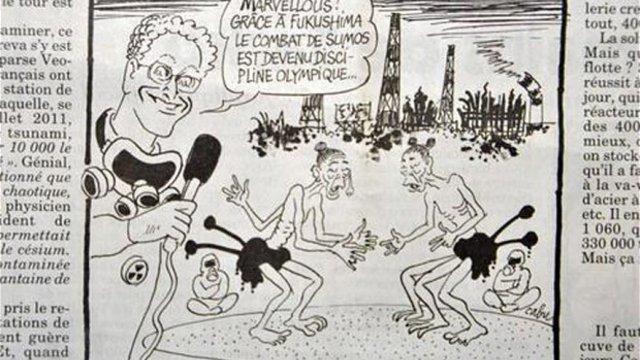 Fukushima als Karikatur