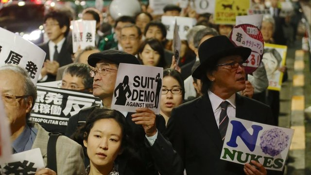 Anti-AKW-Protest im Anzug