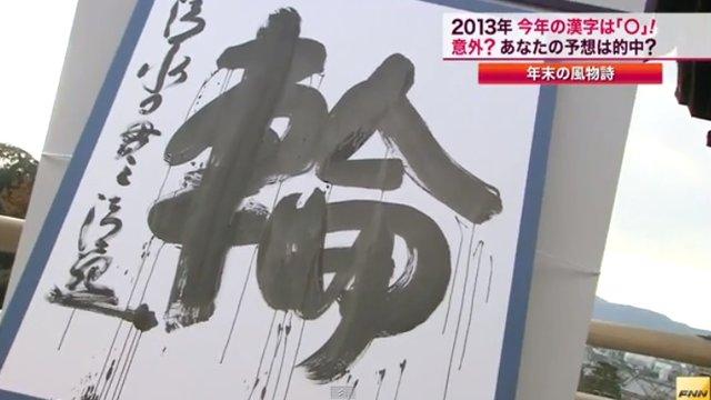 Das Jahr in Schriftzeichen