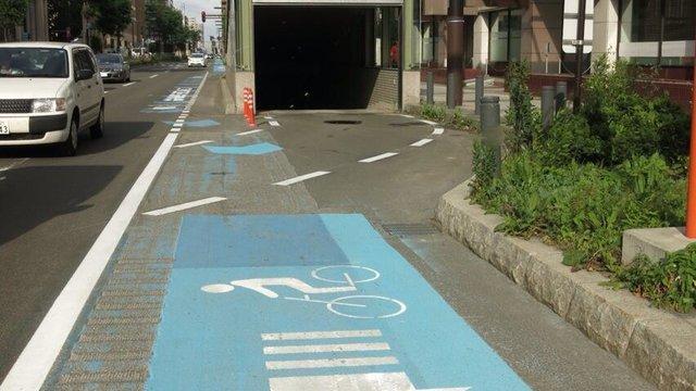 Chaotische Fahrradwege