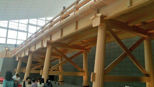 Die Nihonbashi-Brücke im Flughafen