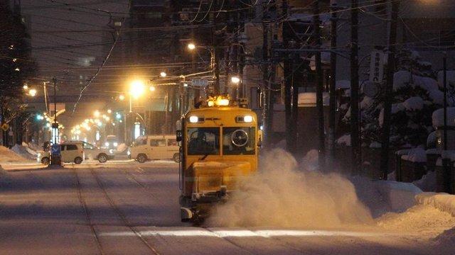 Der Schneeräum-Zug von Sapporo