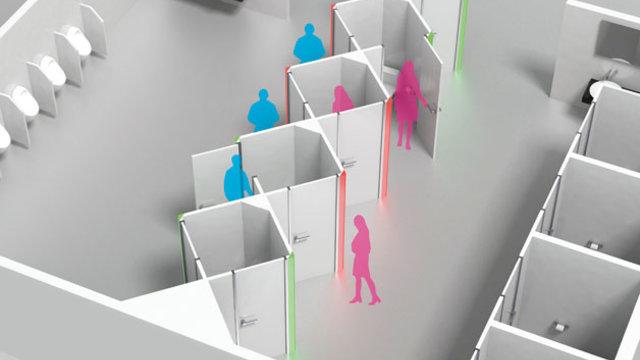 Die Unisex-Toilette