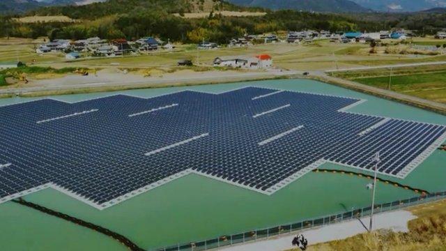Schwimmende Solarkraftwerk