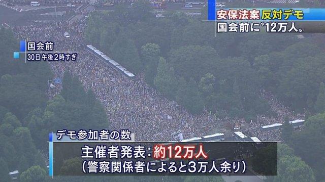 Massendemo gegen Abes Politik