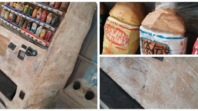 Der Getränkeautomat aus Holz
