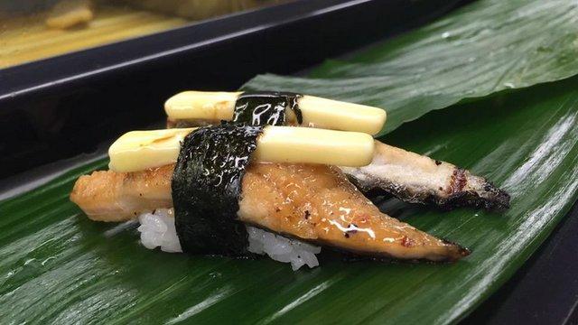 Die Butter auf dem Sushi