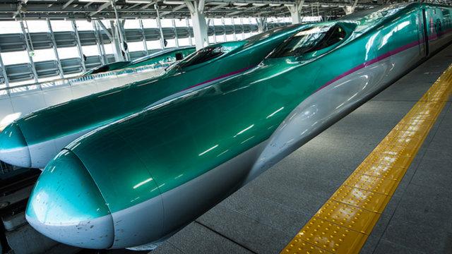 Shinkansen oder Flugzeug?