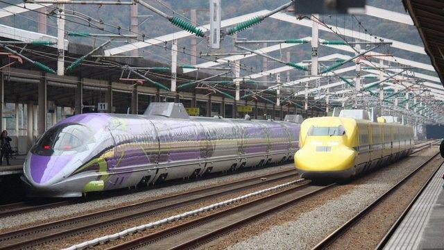 Der perfekte Shinkansen-Moment
