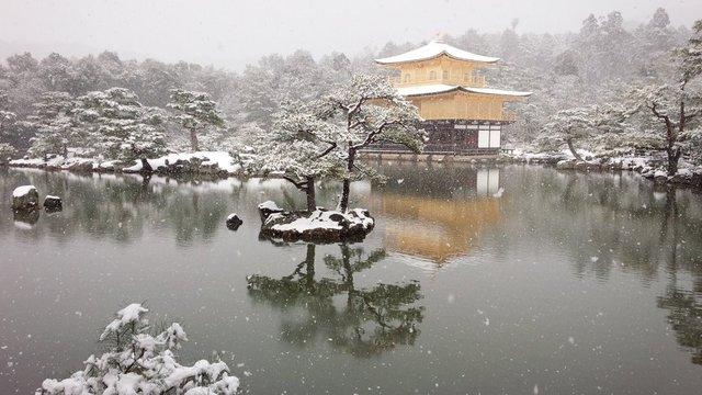 Der Goldene Tempel im Schnee