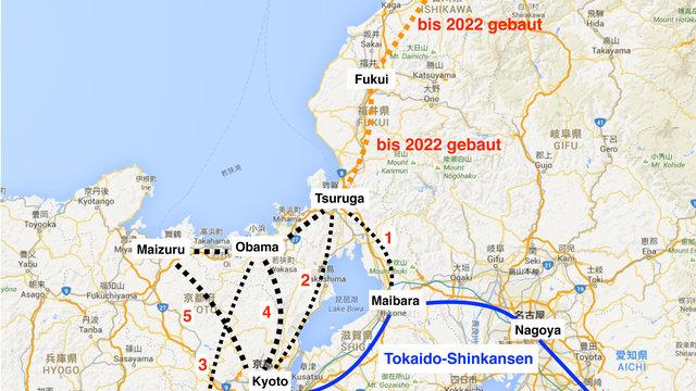 Die nächste Shinkansen-Strecke