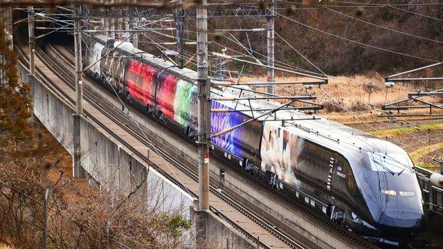 Ein Blick auf den Kunst-Shinkansen