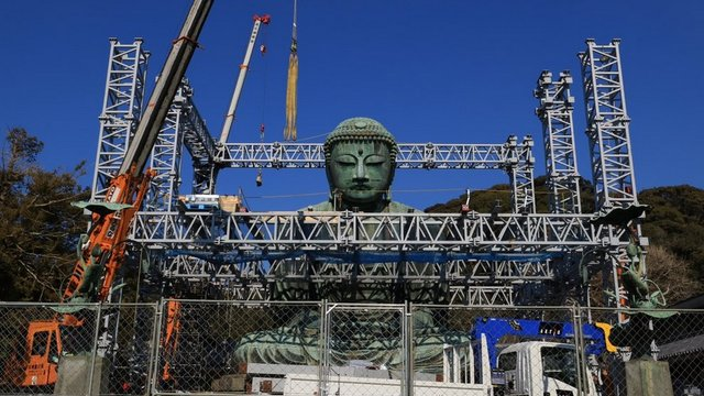 Facelifting für den Grossen Buddha