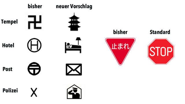 Japans unverständliche Symbole
