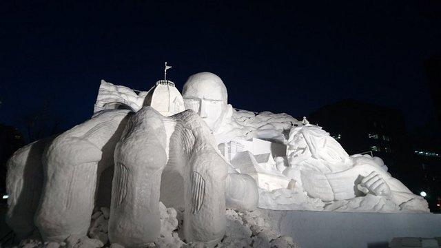 Sapporos Kunstwerke aus Schnee