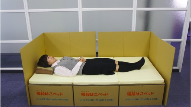 Das Kartonbett für den Notfall