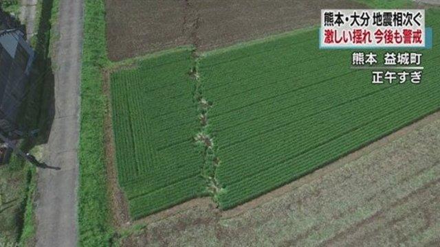 Verschobene Landflächen
