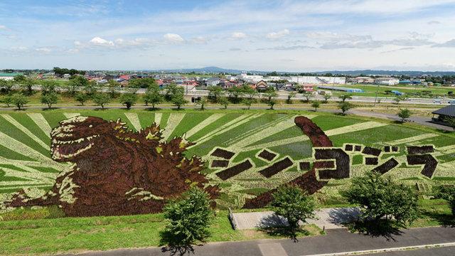 Godzilla im Reisfeld