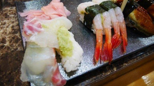 Eine Wasabi-Überdosis im Sushi