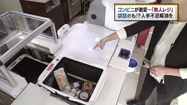 Der Selbstbedienungskassen-Roboter