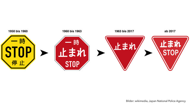 Japans STOP-Schild-Odyssee