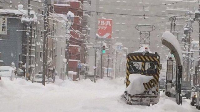 Sapporo im Schnee