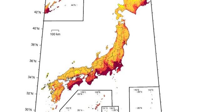 Erdbeben: Japans Risikoregionen