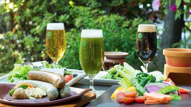Der Matcha-Biergarten von Tokio
