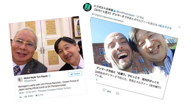 Ein Selfie mit dem künftigen Kaiser
