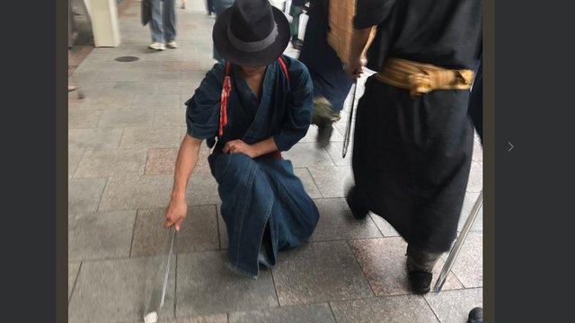 Putzende Samurais