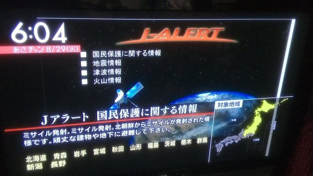 Japans Raketen-Warnsystem