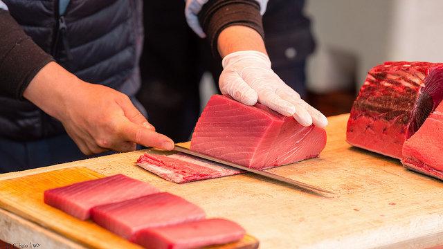 Gezüchteter Thunfisch aus Japan