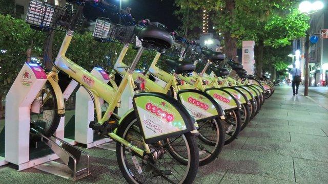 Bike-Sharing beim Minimarkt