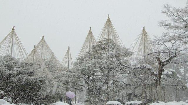 Die malerischen Seiten von Kanazawa im Winter